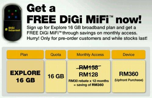 DiGi MiFi price and plan revealed