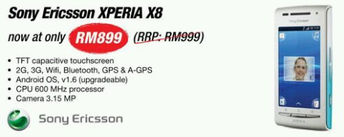 Sony Ericsson Xperia X8 available now at RM899