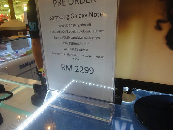 Samsung Galaxy Note pricing revealed at RM2,299. Pre-order starts now.