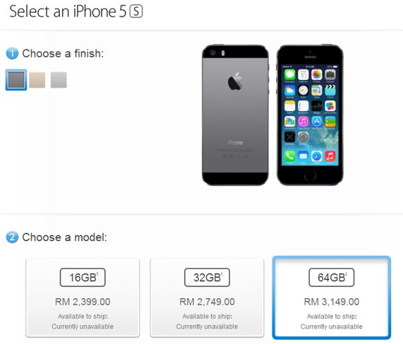 iPhone 5S iPhone 5C Malaysia official Price