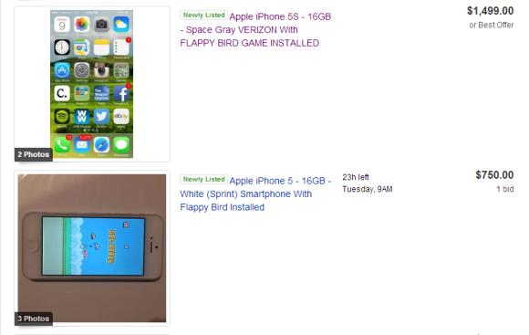 CRAZY! eBay seller wants US$1,500 for iPhone with Flappy Bird pre-installed