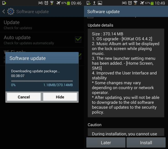 Android 4 4 2 KitKat update for Galaxy S4 is finally here