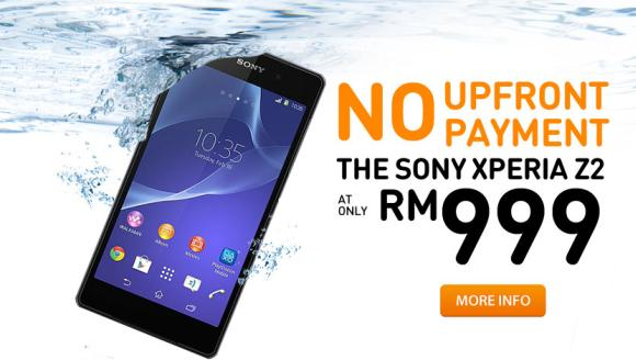 U Mobile offers Xperia Z2 from RM999 with extra no upfront payment during sign up