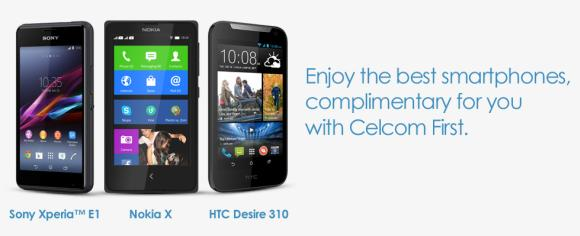 Celcom offers HTC Desire 310 and Sony Xperia E1 on contract
