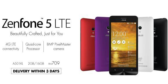 ASUS Online Store now offers ZenFone 5 with LTE | SoyaCincau com