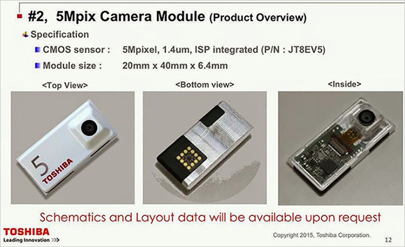 Toshiba shows off camera modules for Project Ara