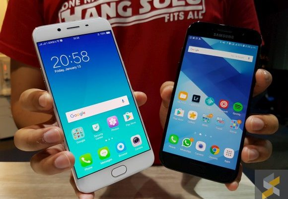 Compared: Samsung Galaxy A5 (2017) vs OPPO R9s