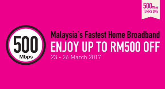 TIME offers up to RM500 off for new Fibre Home broadband subscribers