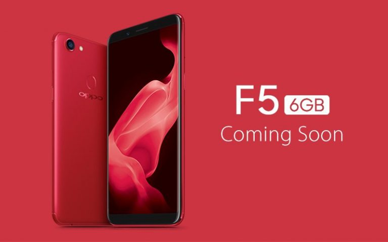 OPPO F5 6GB in Red will be available for pre-order in Malaysia next week