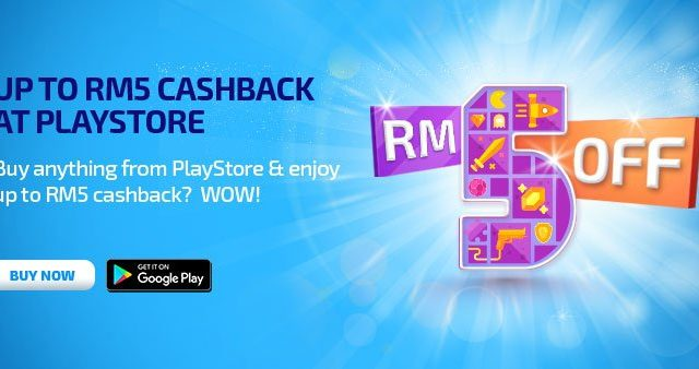 Celcom is giving you RM5 to buy stuff on the Google Play Store