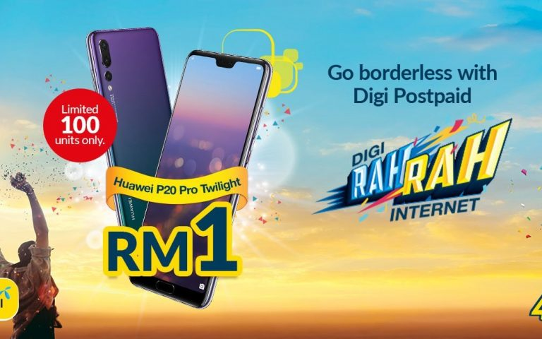 100 Huawei P20 Pros are offered for RM1 each at 10AM today