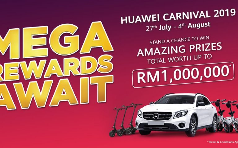 Stand a chance to win a Mercedes-Benz GLA when you buy a new Huawei device
