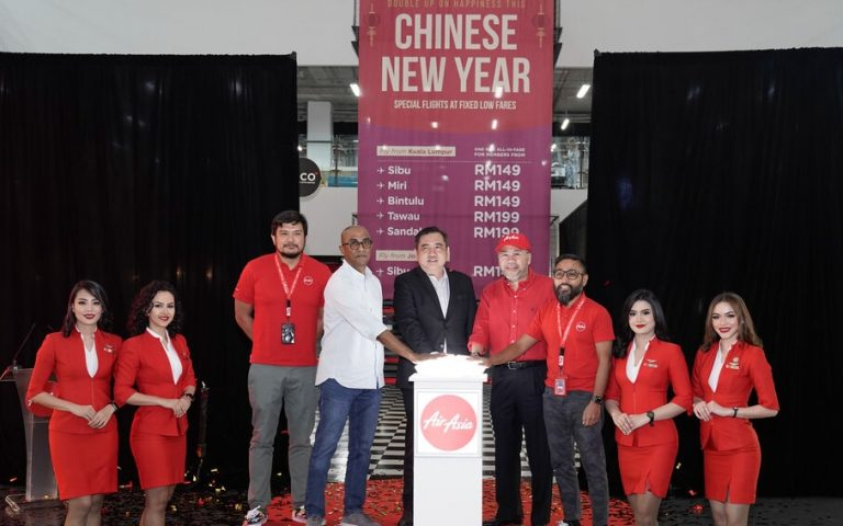 Deal: AirAsia offers fixed-fare CNY flight tickets to East Malaysia from RM149