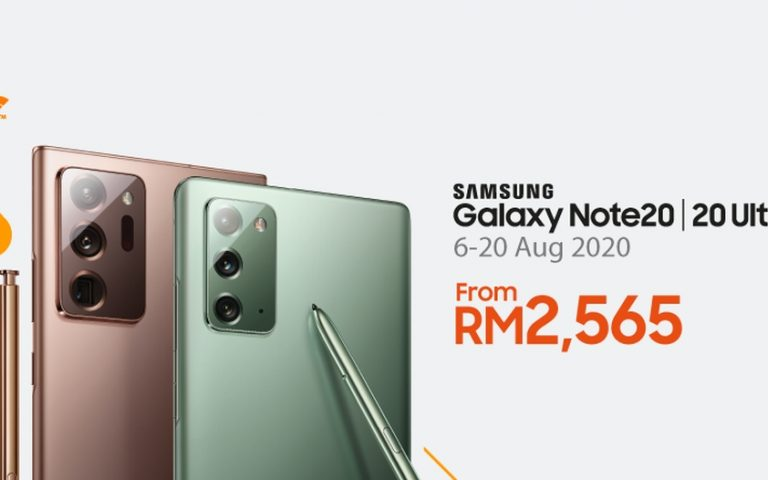 Samsung Galaxy Note 20 offered from RM2,565 with U Mobile unlimited plan