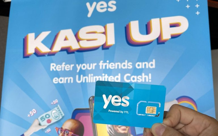 Yes Kasi Up: 100GB postpaid for RM49/month, 10GB prepaid for RM15/month