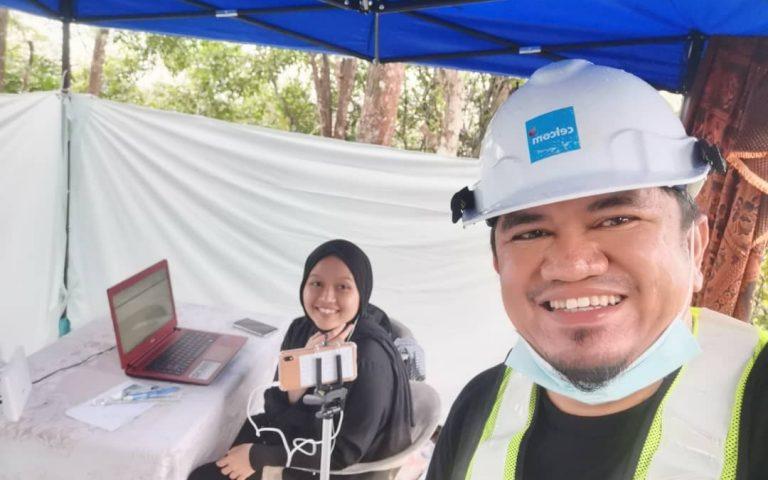 Celcom erects 4G tower for faster connectivity at Nurlieda Khaleeda's village in Kelantan