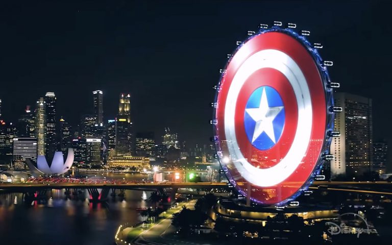 Singapore Flyer turned into Captain America's shield to promote Disney+