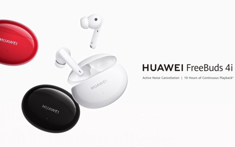Huawei FreeBuds 4i with ANC offers up to 10 hours of music playback, available for RM319 on 27 March