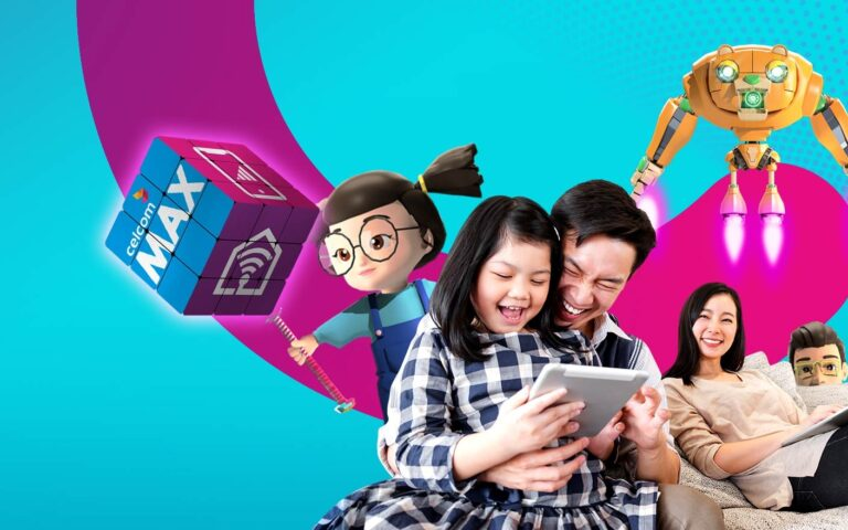 Celcom Max is a fibre and mobile postpaid combo that offers extra savings